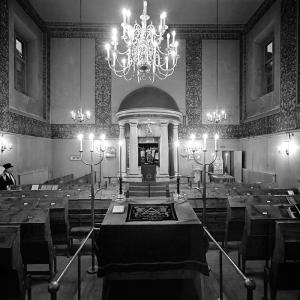 Adat Jisraels Orginalinteriör på St. Paulsgatan