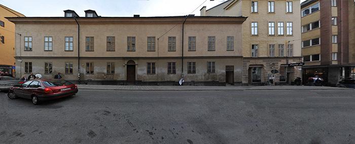 Utsidan av synagogan